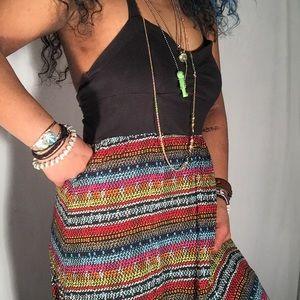 Fun, summery, colorful LONG maxi dress